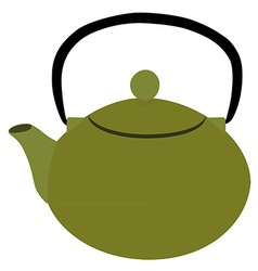 Green teapot vector image