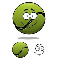 Happy cartoon tennis ball vector