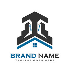 home and building logos vector image