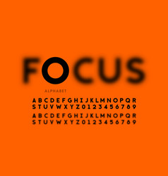 In focus style font design vector