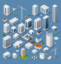Industrial based on isometric projection vector