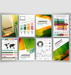 infographic template and bright abstract vector image