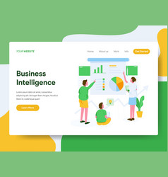 Landing page template business intelligence vector