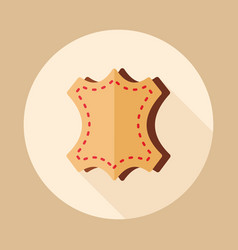 leather icon vector image