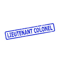 Lieutenant colonel stamp seal with scratched vector