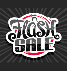 Logo for flash sale vector