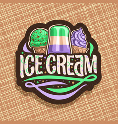 logo for italian ice cream vector image