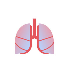 lungs icon human organ anatomy healthcare medical vector image
