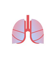 lungs icon human organ anatomy healthcare medical vector image