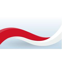 Monaco waving national flag modern unusual shape vector