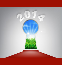 New year red carpet 2014 keyhole vector
