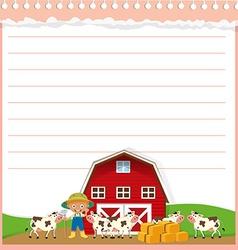 Paper design with agricultural theme vector image