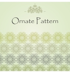 Pattern in Eastern style on scroll work background vector image