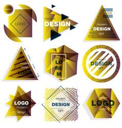 Patterns set distress texture grunge design vector