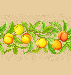 peach branches pattern on color background vector image