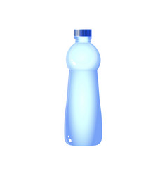Plastic water bottle design with clipping path vector