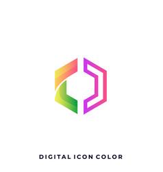 polygon colorful design template vector image