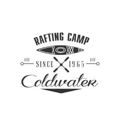 Rafting Camp Emblem Design vector