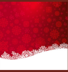 Red christmas background with paper cut white vector