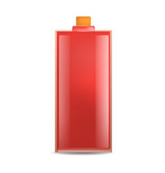 red glass bottle mockup realistic style vector image