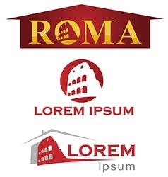 Romans symbol set vector