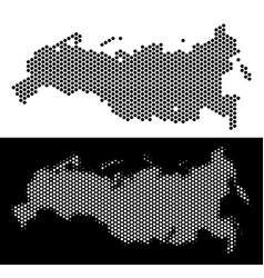Russia map hexagon scheme vector