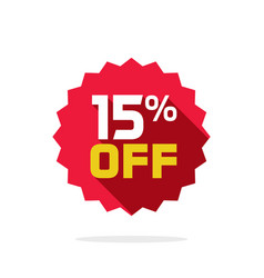 sale tag badge template 15 percent off vector image