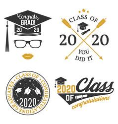 set class 2020 badges concept vector image