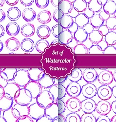Set of four watercolor simple patterns vector