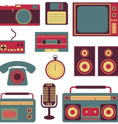 set of retro gadgets vector image