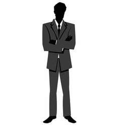 Silhouette of a man in a business suit vector