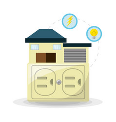 smart home use alternative energy vector image