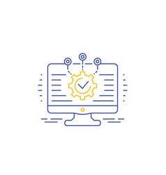 Software development integration icon vector