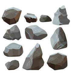 stones cartoon rock mountains flagstone rocky vector image