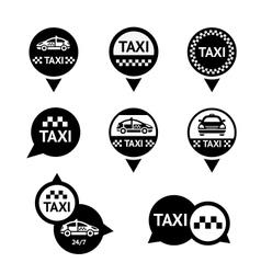 Taxi - set emblems vector