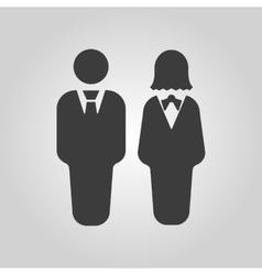 The man and woman icon Partners And Human symbol vector
