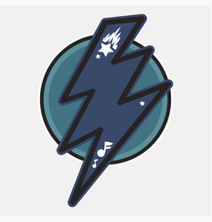 Thunder flat color vector