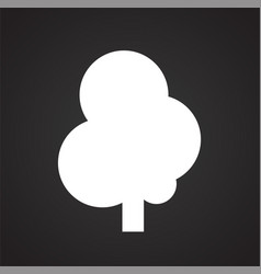 Tree icon on black background for graphic and web vector