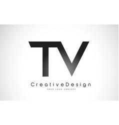 Tv t v letter logo design creative icon modern vector