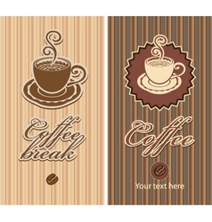 Two coffee vector
