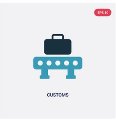Two color customs icon from technology concept vector
