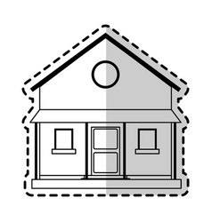two story house icon image vector image