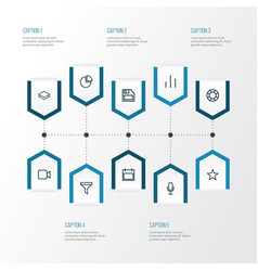 User outline icons set collection of diagram vector