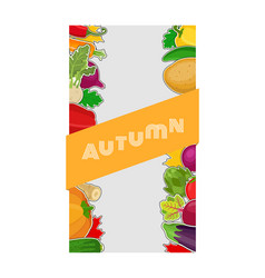 Vegetable label voucher for sale market vector
