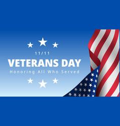 Veterans day november 11th honoring all who vector