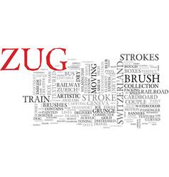 Zug word cloud concept vector