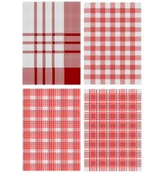 Checkered tablecloths vector