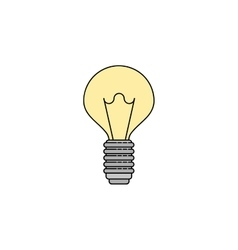 Electricity flat icon Lightbulb vector image vector image