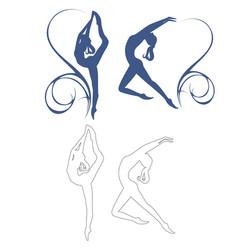 gymnastics girl vector image vector image