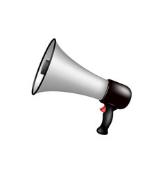 megaphone in silver and black design vector image